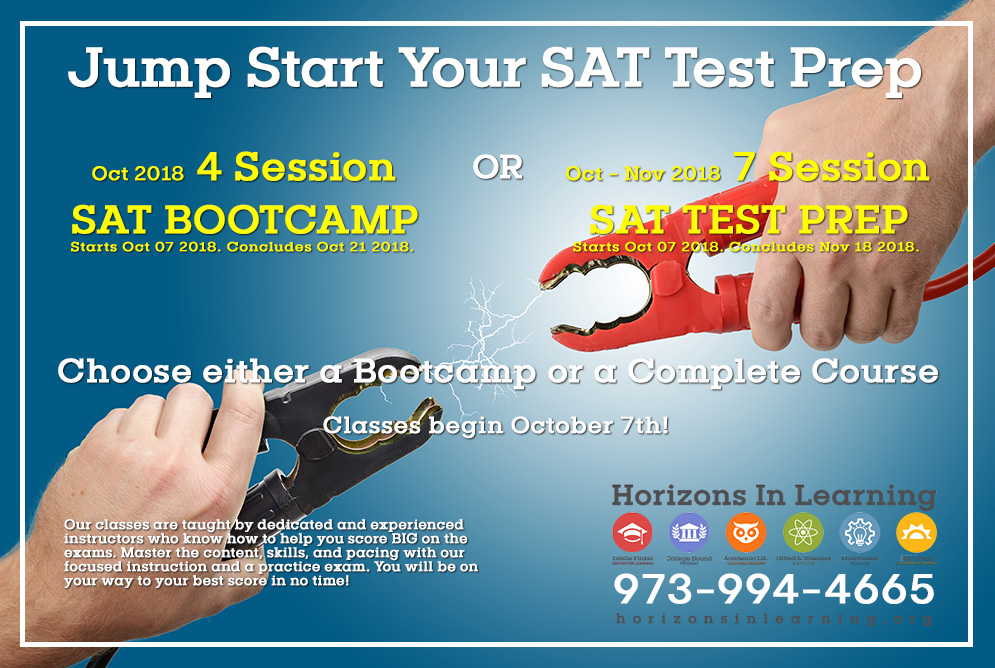September 2018 – Jump Start Your SAT Test Prep for Fall