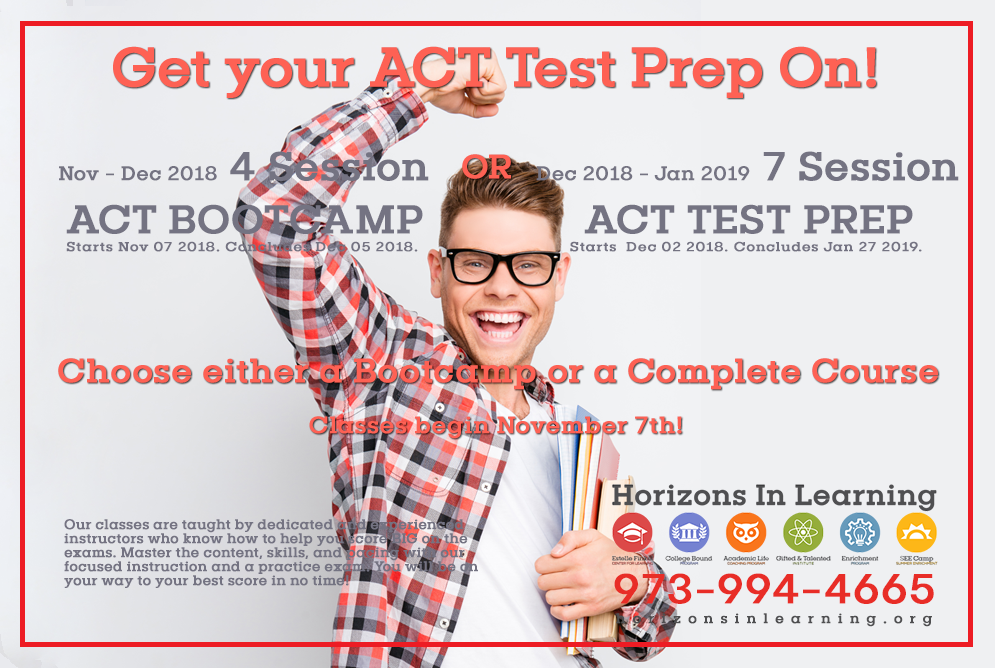 October 2018 – Get Your ACT Test Prep On!