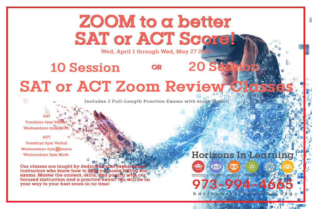 Zoom to a better SAT or ACT Score!
